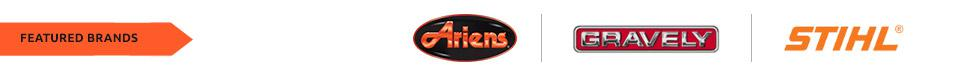 We carry products from Ariens, Gravely, and STIHL.