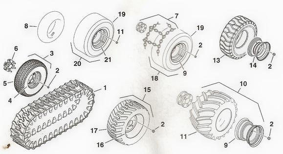 Toro Dingo Wheels & Tires Parts Diagram TopLine Equipment