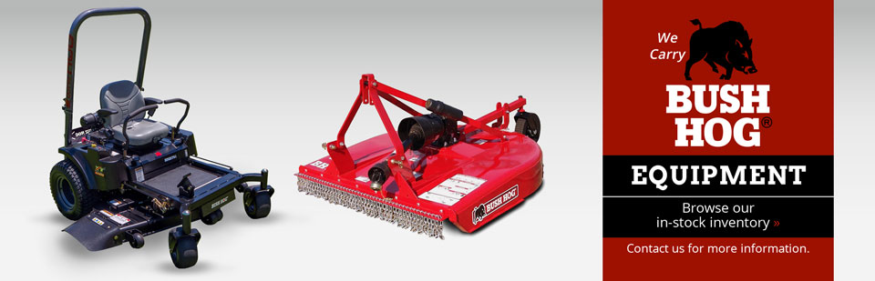 We Carry Bush Hog Equipment: Browse our in-stock inventory.