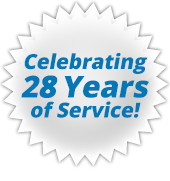 Celebrating 28 Years of Service.
