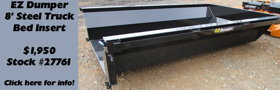 Black steel 8' truck bed dump insert by EZ Dumper