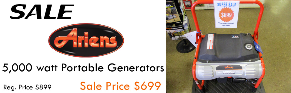 Ariens Portable Generators on Sale for $699