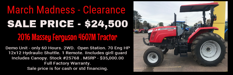 March Madness - MF 4607M Tractor