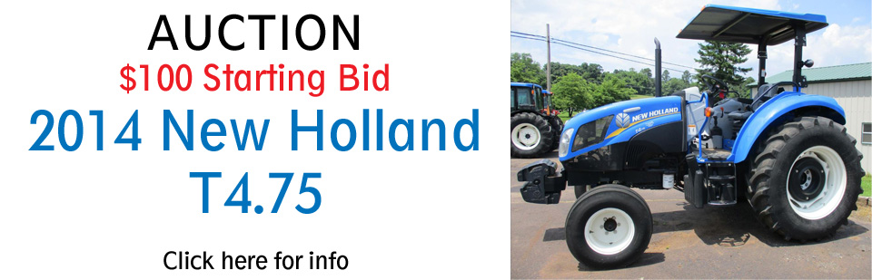 New Holland T4.75 Auction Banner