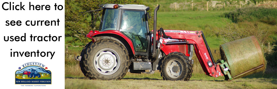 We have a variety of brands in our used tractor inventory.