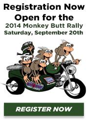 Registration Now Open for the 2014 Monkey Butt Rally