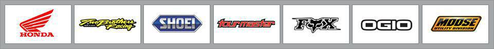 We proudly carry products from Honda, Two Brother's Racing, Shoei, Tour Master, Fox Racing, OGIO, and Moose Utility.