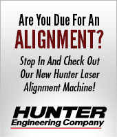 Are You Due For An Alignment? Stop In And Check Out Our New Hunter Laser Alignment Machine!