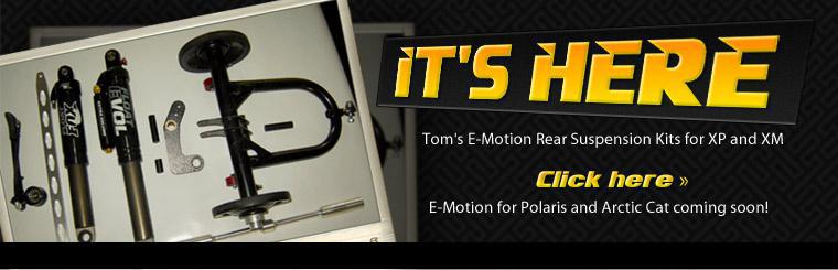 Tom's E-Motion Rear Suspension Kits for XM