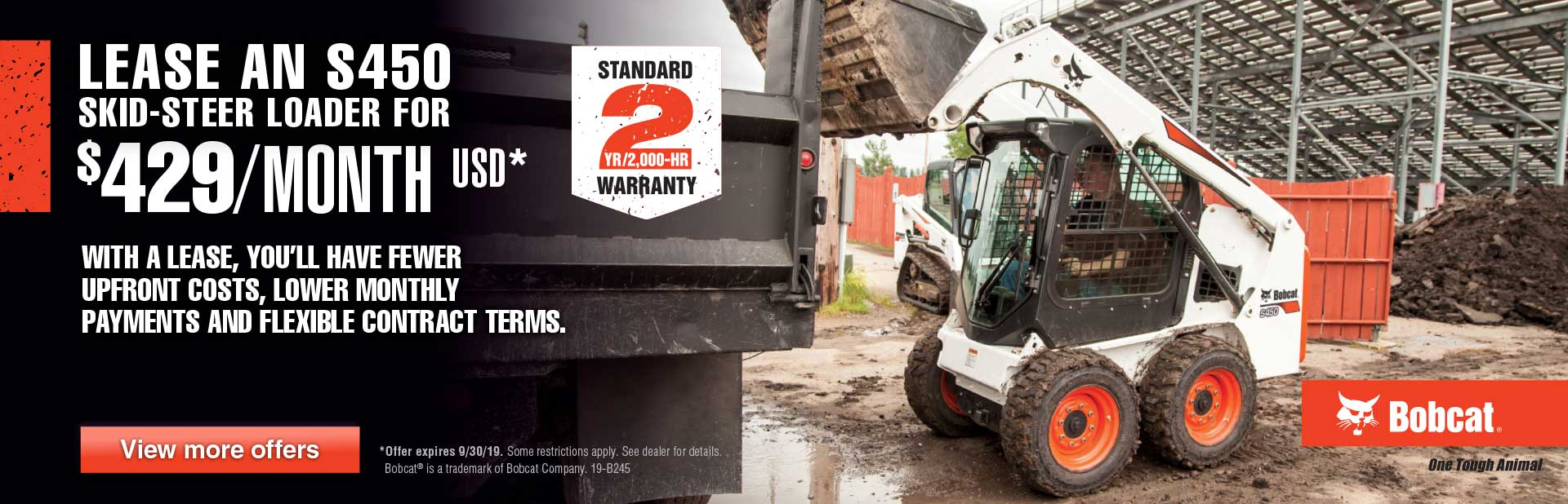 Bobcat S450 Lease Offer