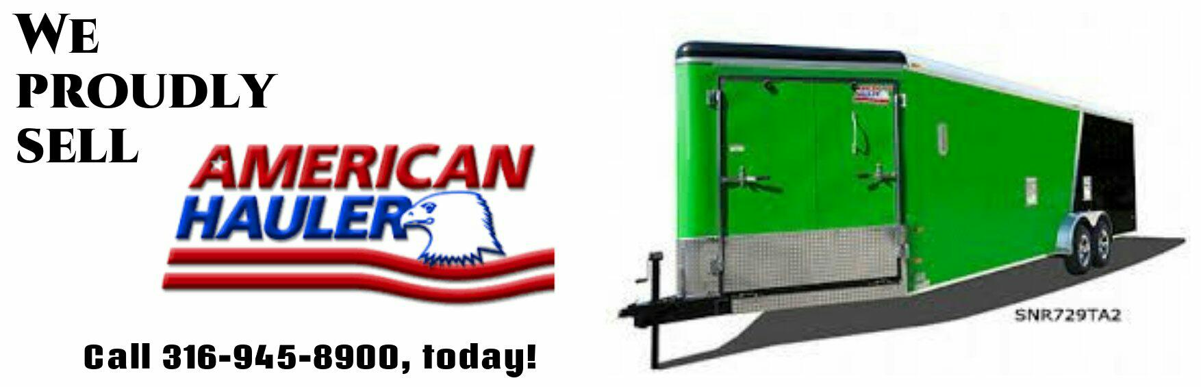AMERICAN HAULER TRAILERS SOLD HERE!