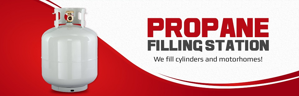 Propane Filling Station: We fill cylinders and motorhomes!