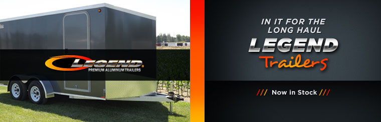 Legend trailers are now in stock! Click here to contact us for details.