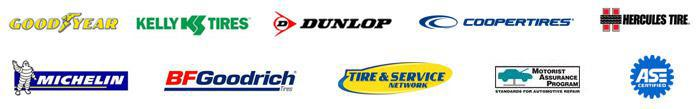 We carry quality products from Goodyear, Kelly, Dunlop, Cooper Tires, Hercules Tire, Michelin®, and BFGoodrich®. We are affiliated with the Tire & Service Network, Motorist Assurance Program, and our technicians are ASE certified.