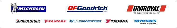 We carry products from Michelin®, BFGoodrich®, Uniroyal®, Bridgestone, Firestone, Cooper, Yokohama, and Toyo.