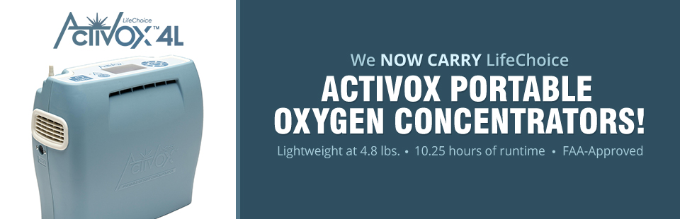 We now carry LifeChoice Activox portable oxygen concentrators! Contact us for details.