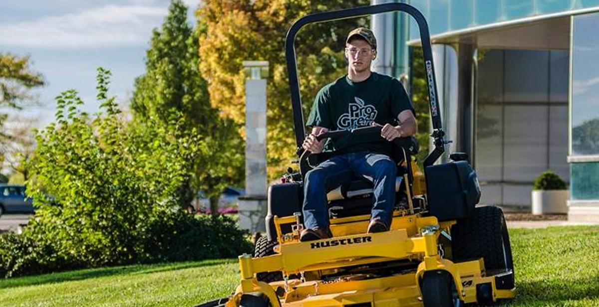 hustler riding lawn mower