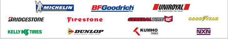 We carry products from Michelin®, BFGoodrich®, Uniroyal®, Bridgestone, Firestone, General Tire, Goodyear, Dunlop, Kumho, and Nexen.