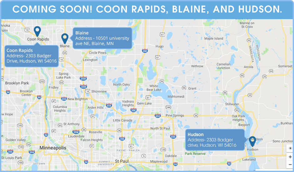 Coming Soon! New Tumble Fresh locations in Coon Rapids, Blaine, and Hudson.