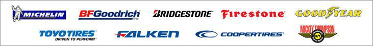 We carry products from Michelin®, BFGoodrich®, Bridgestone, Firestone, Goodyear, Toyo, Falken, Cooper, and Mickey Thompson.