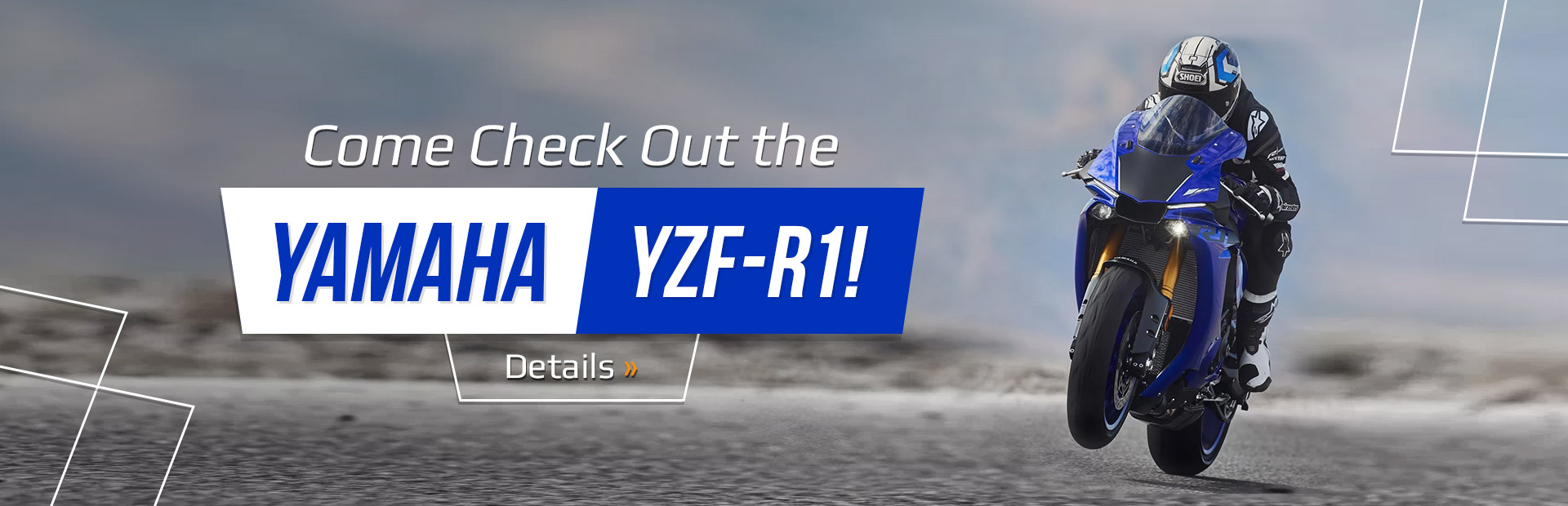 Check out the Yamaha YZF-R1!