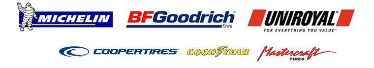 We carry products from Michelin®, BFGoodrich®, Uniroyal®, Cooper Tires, Goodyear, and Mastercraft.