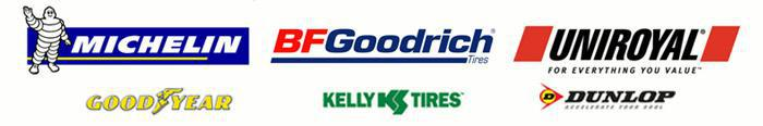 We proudly offer products from: Michelin®, BFGoodrich®, Uniroyal®, Goodyear, Kelly, and Dunlop.