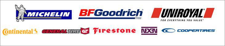 We proudly carry products from Michelin®, BFGoodrich®, Uniroyal®, Continental, General, Firestone, Nexen, and Cooper products.