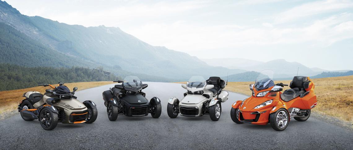 Can Am Spyder Ryker 3 Wheel Motorcycles Cruiser