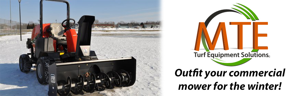 MTE will outfit your wide area mower for the winter!