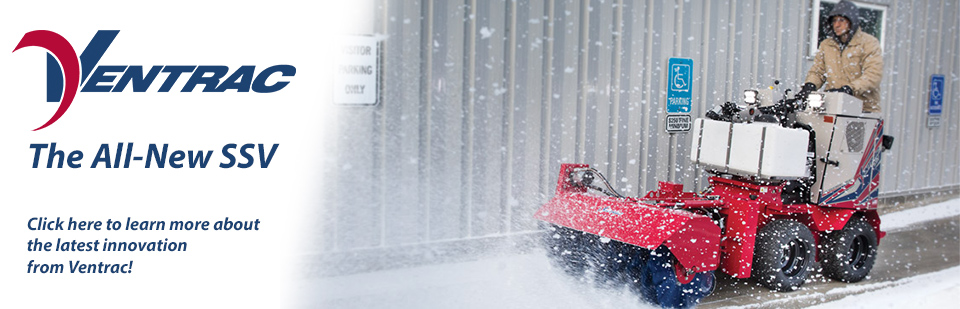The All New Ventrac 2100 Sidewalk Snow Vehicle