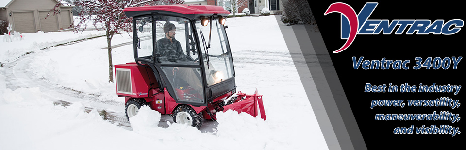 Check out the Ventrac 3400Y snow setup!