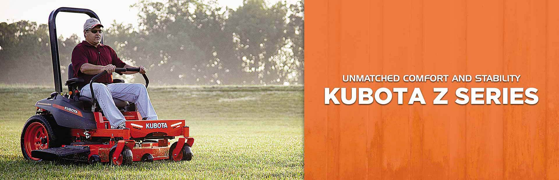 Kubota Z Series Lawn Mowers: Click here to view the models.