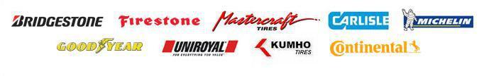 We carry products from Bridgestone, Firestone, Mastercraft, Carlisle, Michelin®, Goodyear, Uniroyal®, Kumho, and Continental.