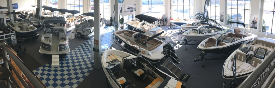 All New 2018 Boats now in stock in our heated showroom!