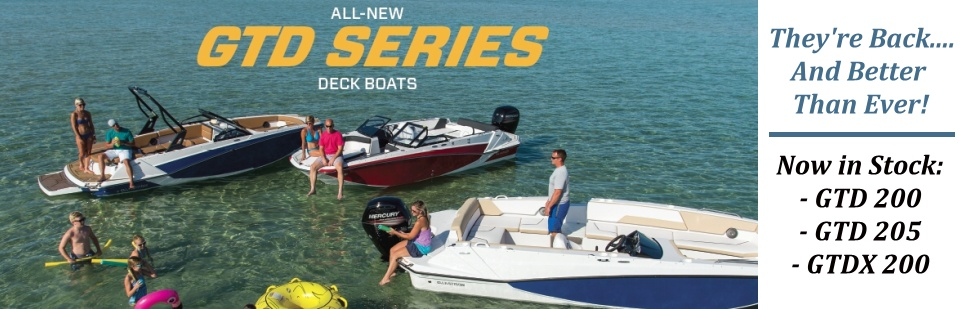 All New for 2018 - Glastron GTD Deck Boats !