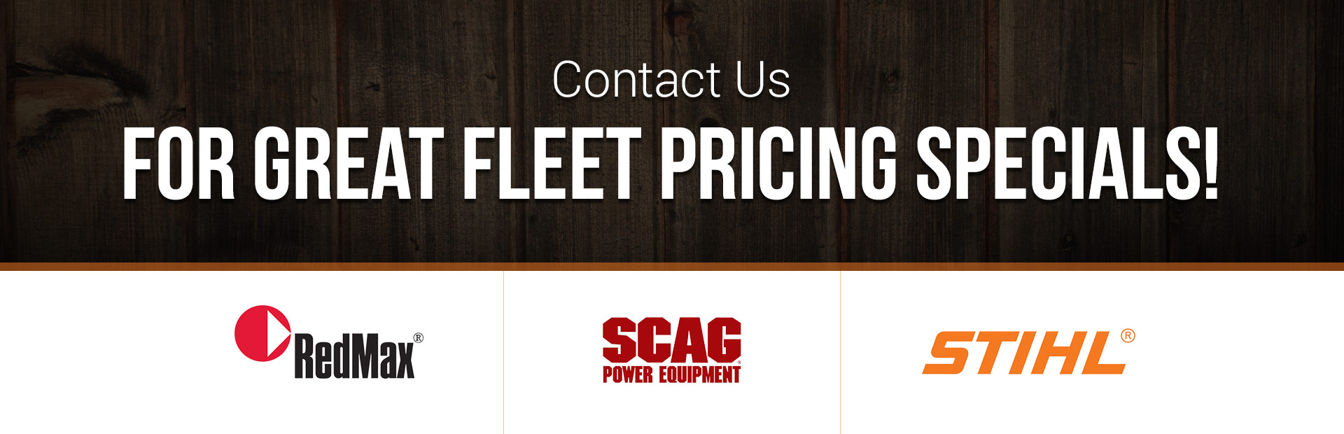 Contact us for great fleet pricing specials!