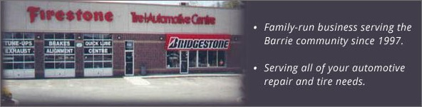 Family-run business serving the Barrie community for 1997. Serving all of your automotive repair and tire needs.