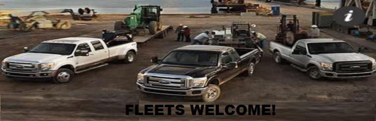 We welcome fleets! Click here to request a service.