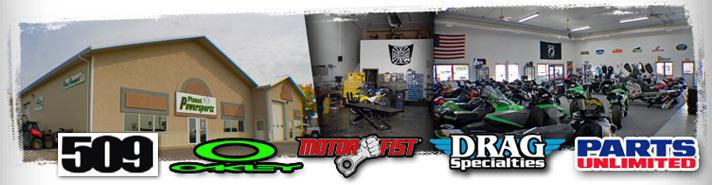We offer products from 509, Oakley, Motor Fist, Drag Specialties, and Parts Unlimited.