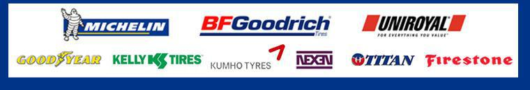 We proudly carry products from Michelin®, BFGoodrich®, Uniroyal®, Goodyear, Kelly, Kumho, Nexen, Titan, and Firestone.