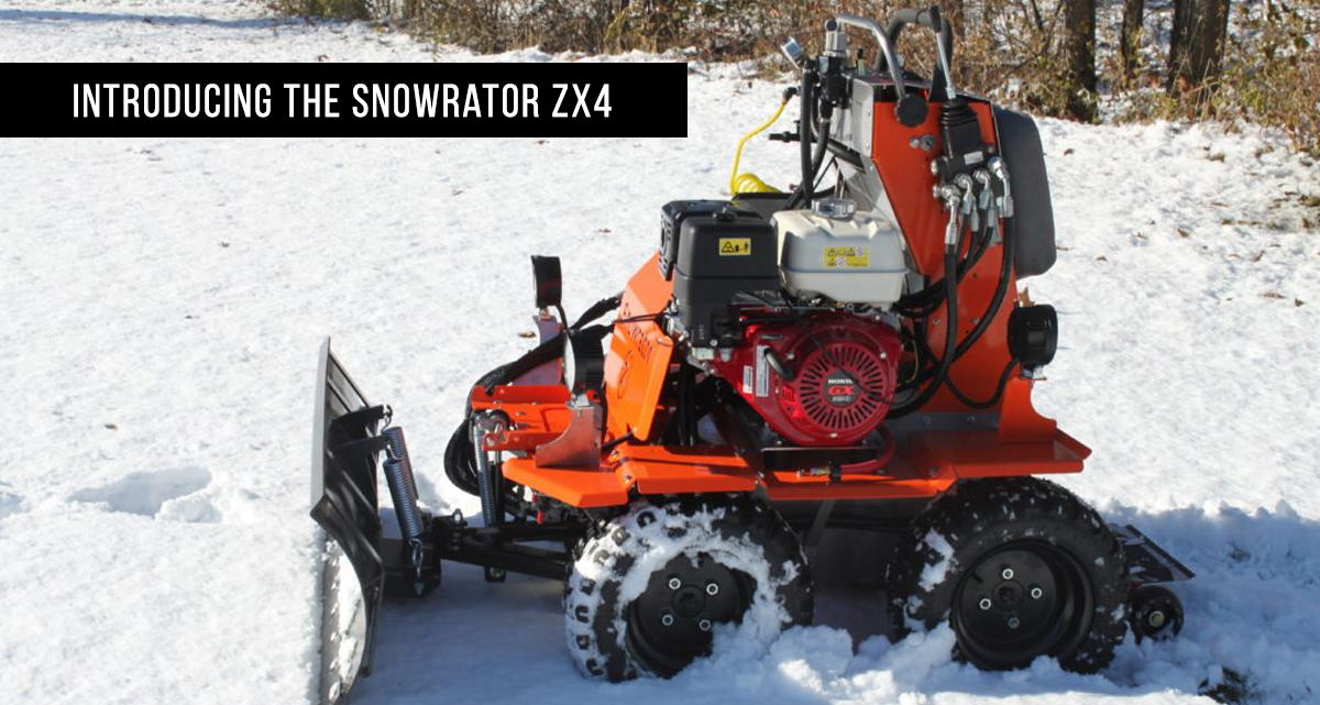 Snowrator Sidewalk Zx4 Snow Plow Bison Turf Equipment Inc