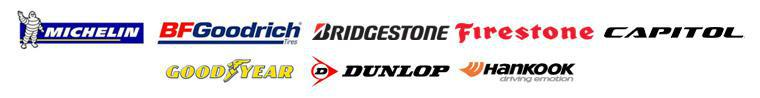 We carry products from Michelin®, BFGoodrich®, Bridgestone, Firestone, Capitol, Goodyear, Dunlop, and Hankook.