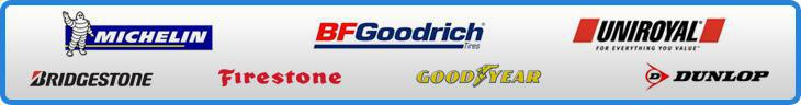 We carry products from Michelin®, BFGoodrich®, Uniroyal®, Bridgestone, Firestone, Goodyear, and Dunlop!