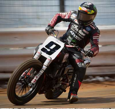 Champion Jared Mees on Indian Scout FTR750