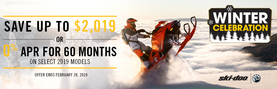 Save Up to $2,019 on a new Ski-Doo! Click for more info.