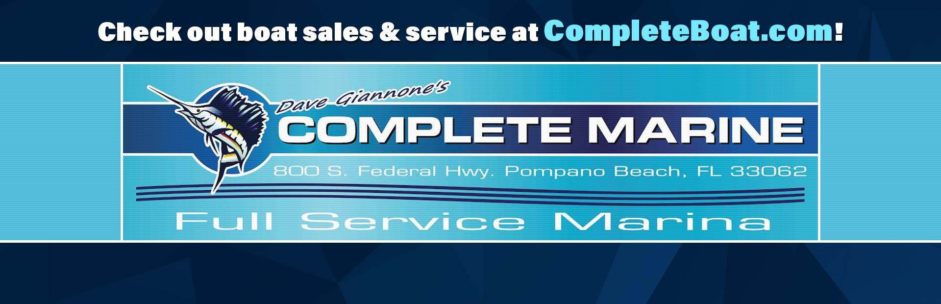 Check out boat sales and service at CompleteBoat.com!