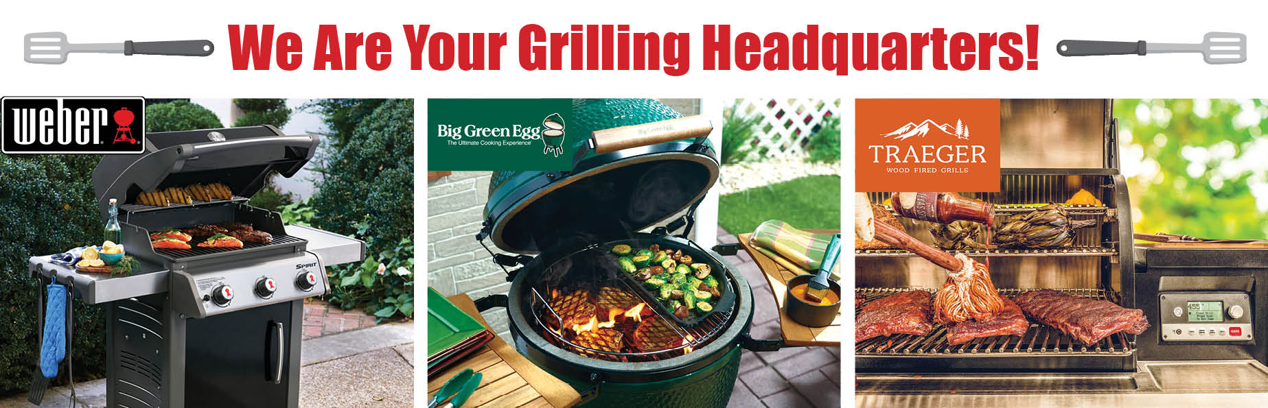 Weber, Big Green Egg and Traeger grill in stock at Blair's Hardware!