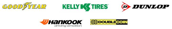 We carry products from Goodyear, Kelly, Dunlop, Hankook, and Doublecoin.