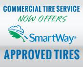 Commercial Tire Service now offers SmartWay approved tires.